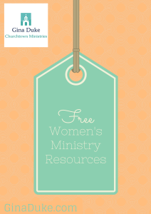 Women's Ministry Freebies