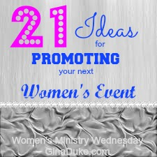 Women's Ministry, Women's Ministry Events
