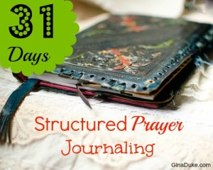 prayer journal, structured prayer journaling