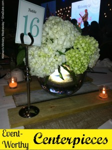 women's ministry, centerpieces