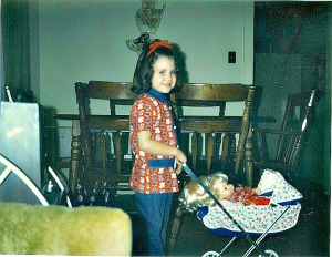 Me - with my Christmas gifts in 1972.