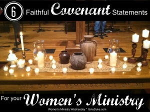 women's ministry covenant statements