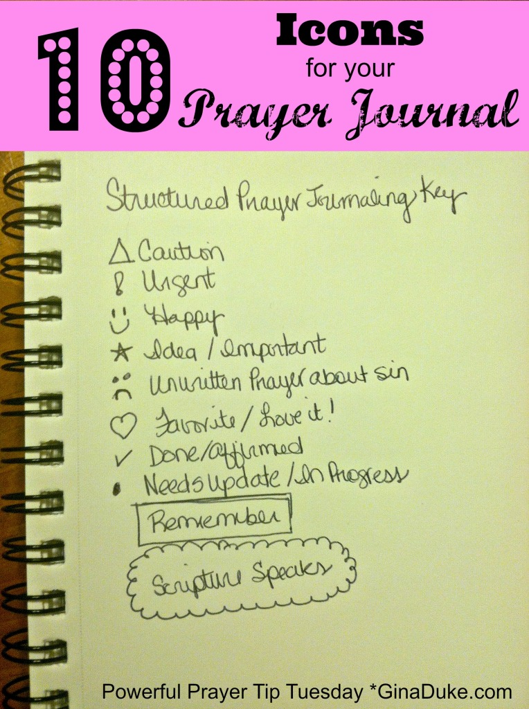 structured prayer journal icon key