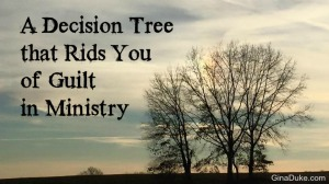 Women's Ministry, Decision Tree