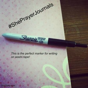 prayer journal marker
