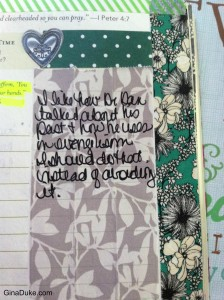 Prayer Journal Sharpie example