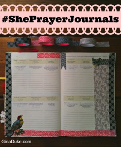 prayer journal setup