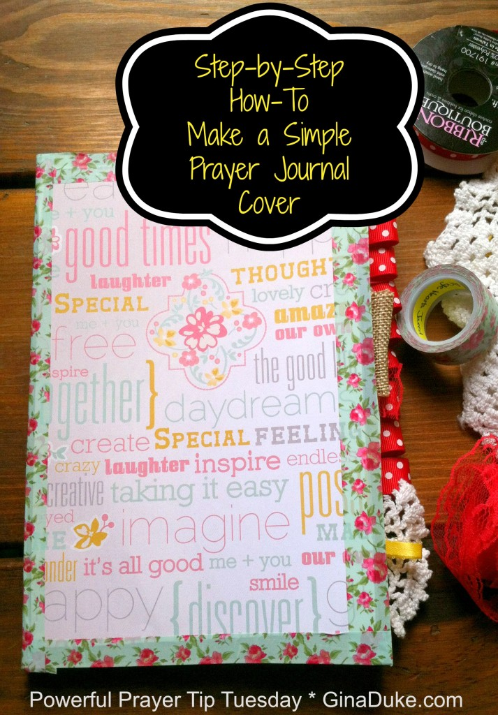 Prayer journal, DIY book cover. prayer closet