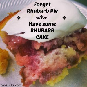 Rhubarb Cake Recipe
