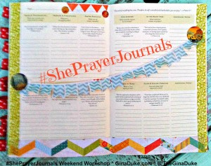 Prayer Journaling with Streamers