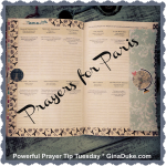 Prayers for Paris, Prayer journaling, planner setup, prayer closet setup, war room prayer closet,
