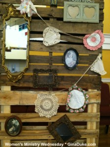 women's ministry, pallet decor