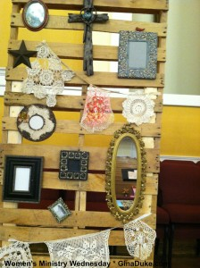 women's ministry ideas, pallet decor