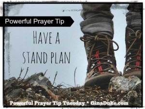 prayer tip, standing on the promises of God,